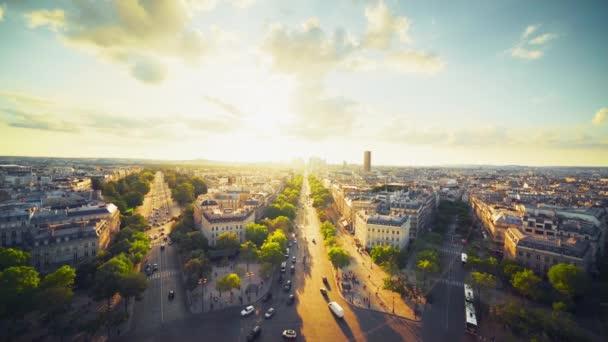 Paris view from Triumphal Arch, France