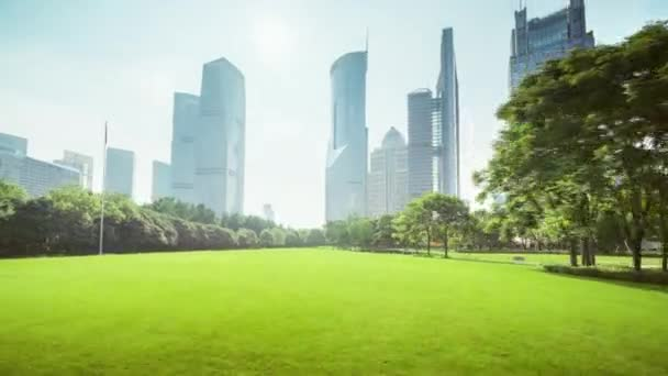 hyper lapse, park in lujiazui financial center, Shanghai, China