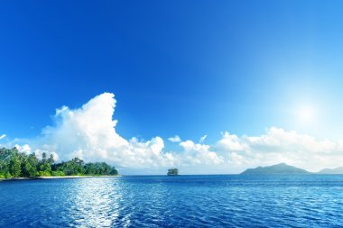 beach on La Digue island, Seychelles