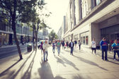 Photo people in bokeh, street of London