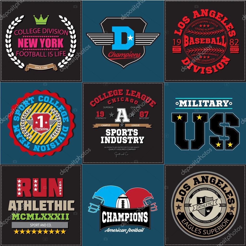 Deporte Atletismo Colegio béisbol fútbol insignia emblema colección ...