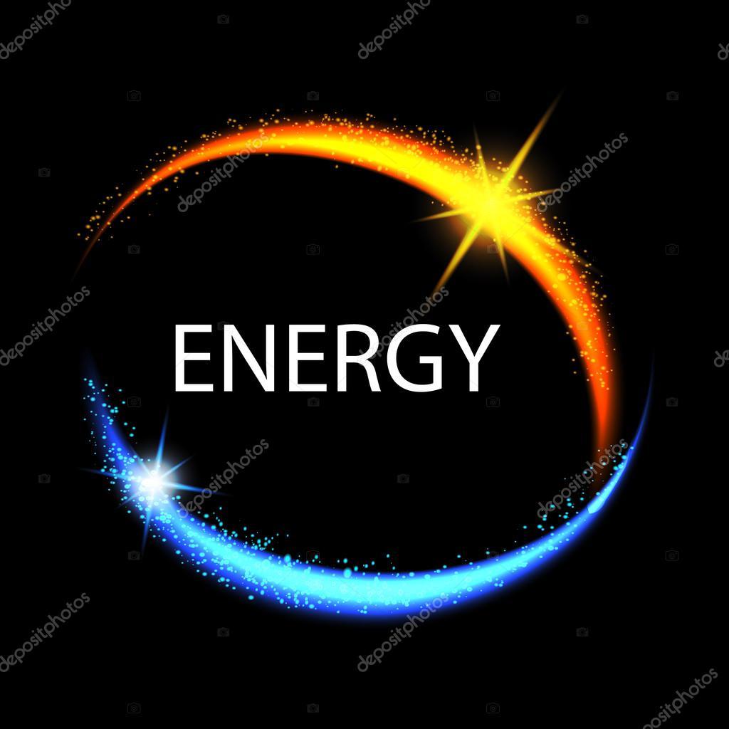 Marco de energía. Bandera de círculo brillante. Círculo de energía ...