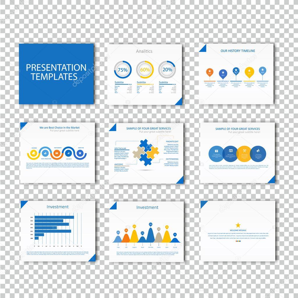 Mehrzweck-Vorlage für Präsentationsfolien mit Diagrammen - blaue ...
