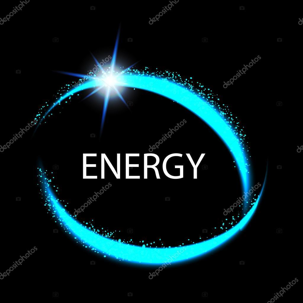 Marco de la ronda de energía. Círculo de energía mágica luz neón ...