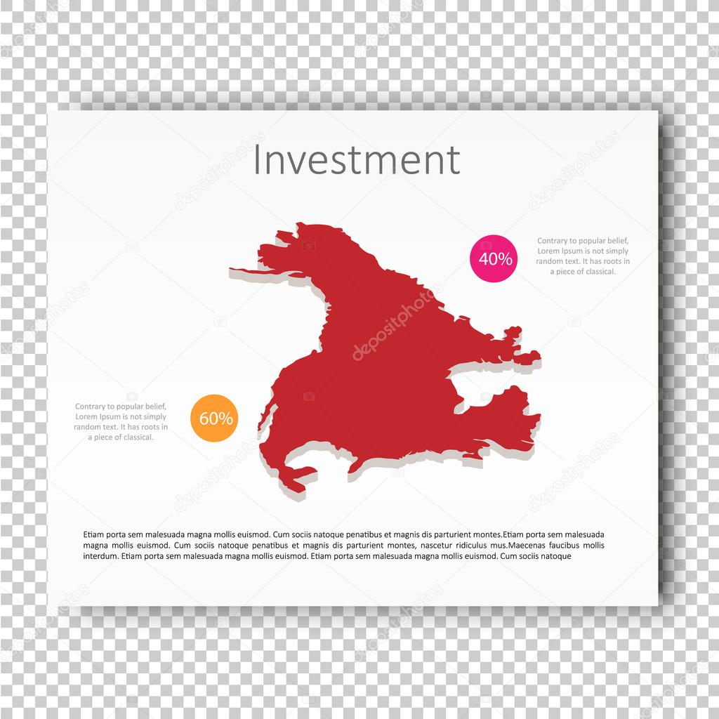 business investment usa map presentation slide template business