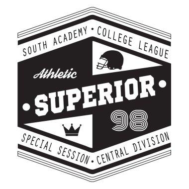 Sport Athletic Superior College t-shirt design for apparel