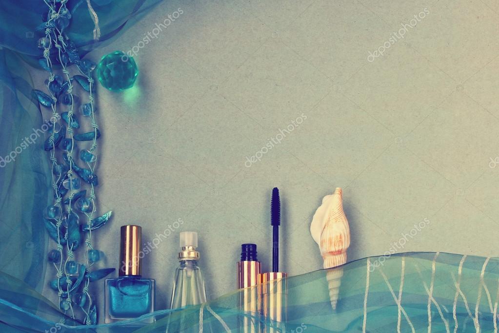 color de accesorios femeninos, turquesa — Foto de stock © xanya69 ...
