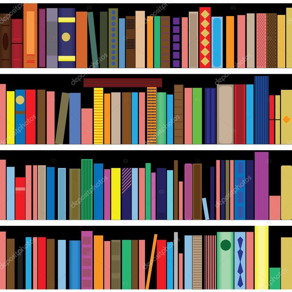 libros de vectores textura vertical y fondo de estantera u vector de stock