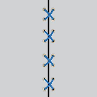 Shoe lace blue symbol