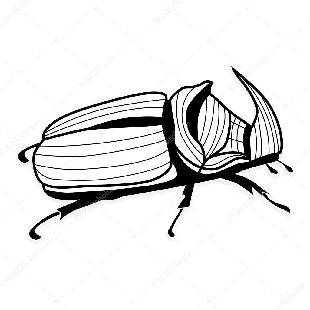 Tatuaje de Escarabajo rinoceronte — Archivo Imágenes Vectoriales ...