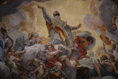 Fresco in the church of the Gesu in Rome