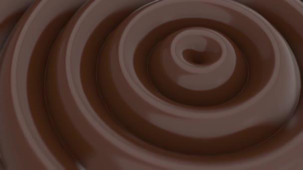 Pohyb kruhových vln horké čokolády