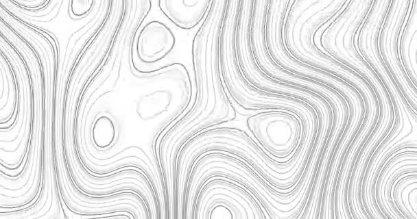 Animated outline topographic contour map