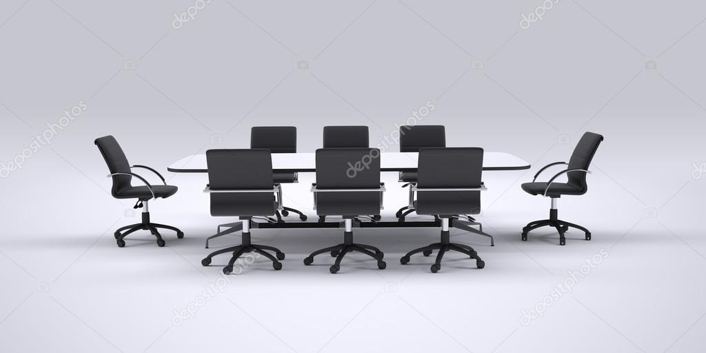 Mesa — Frontal Foto De NegrasVista Sillas Conferencia Y Oficina roCdxBe
