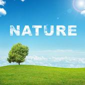Krajina s přírodní slovo