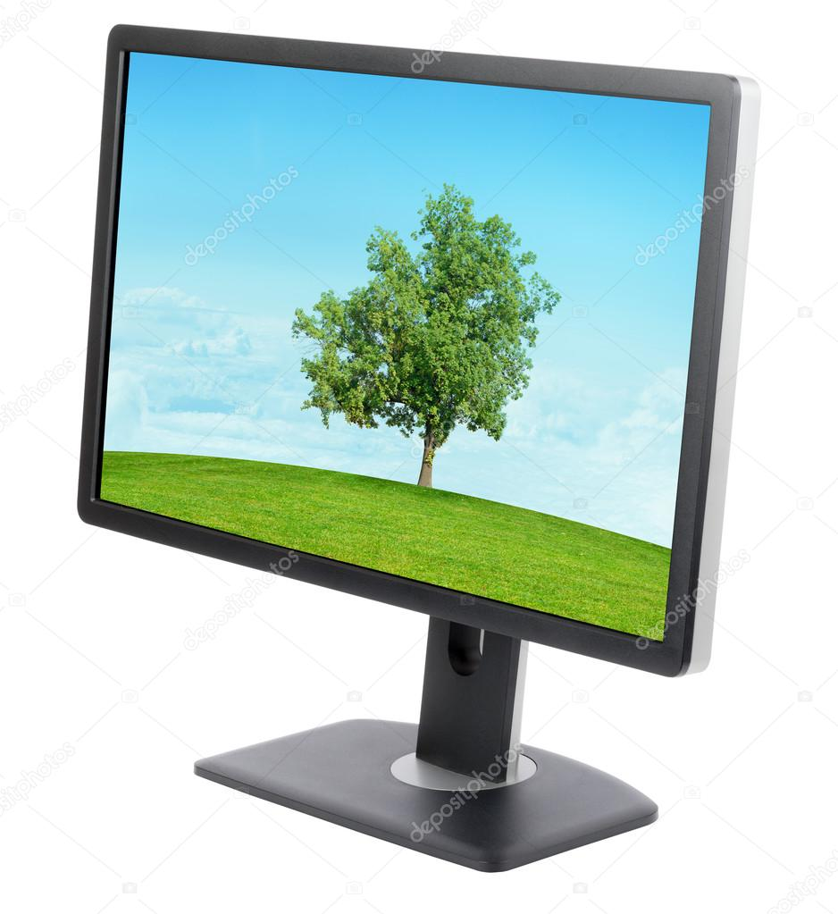 Display with landscape on screen