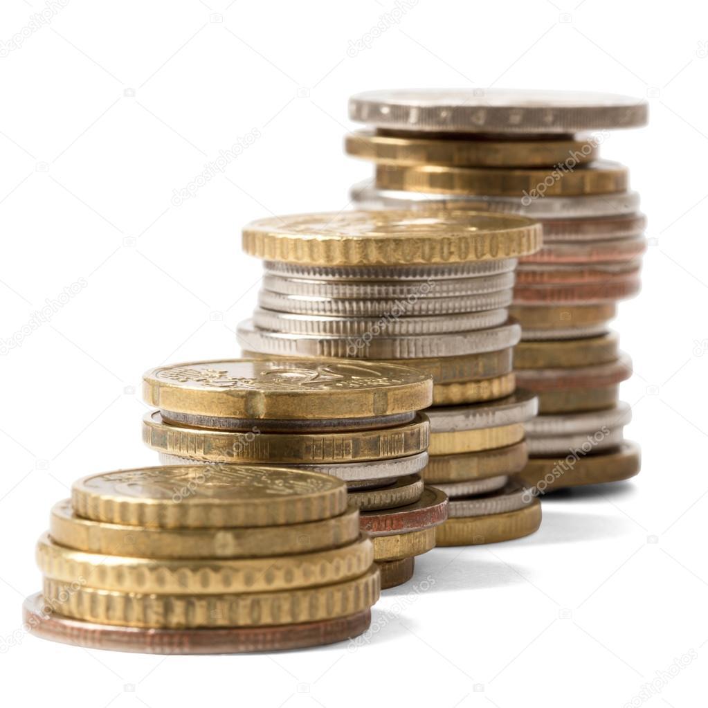 Berge Von Münzen Stockfoto Cherezoff 95706350