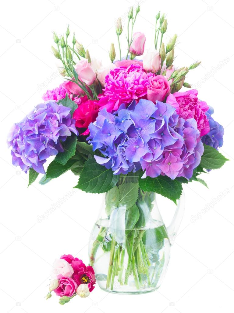 Bright Pink And Blue Flowers Stock Photo Neirfys 116118730