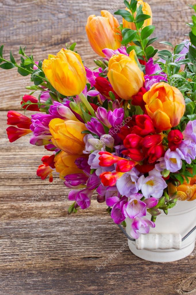 freesia and  flowers
