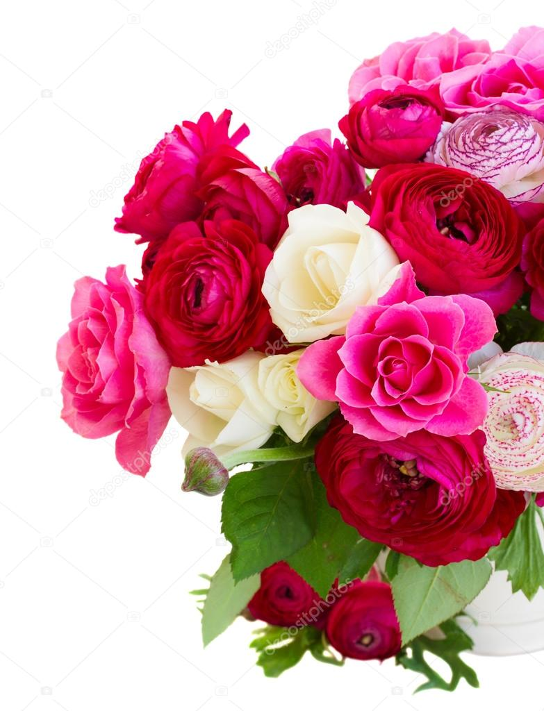 Bunch Of Pink Ranunculus Flowers Stock Photo Neirfys 73968321