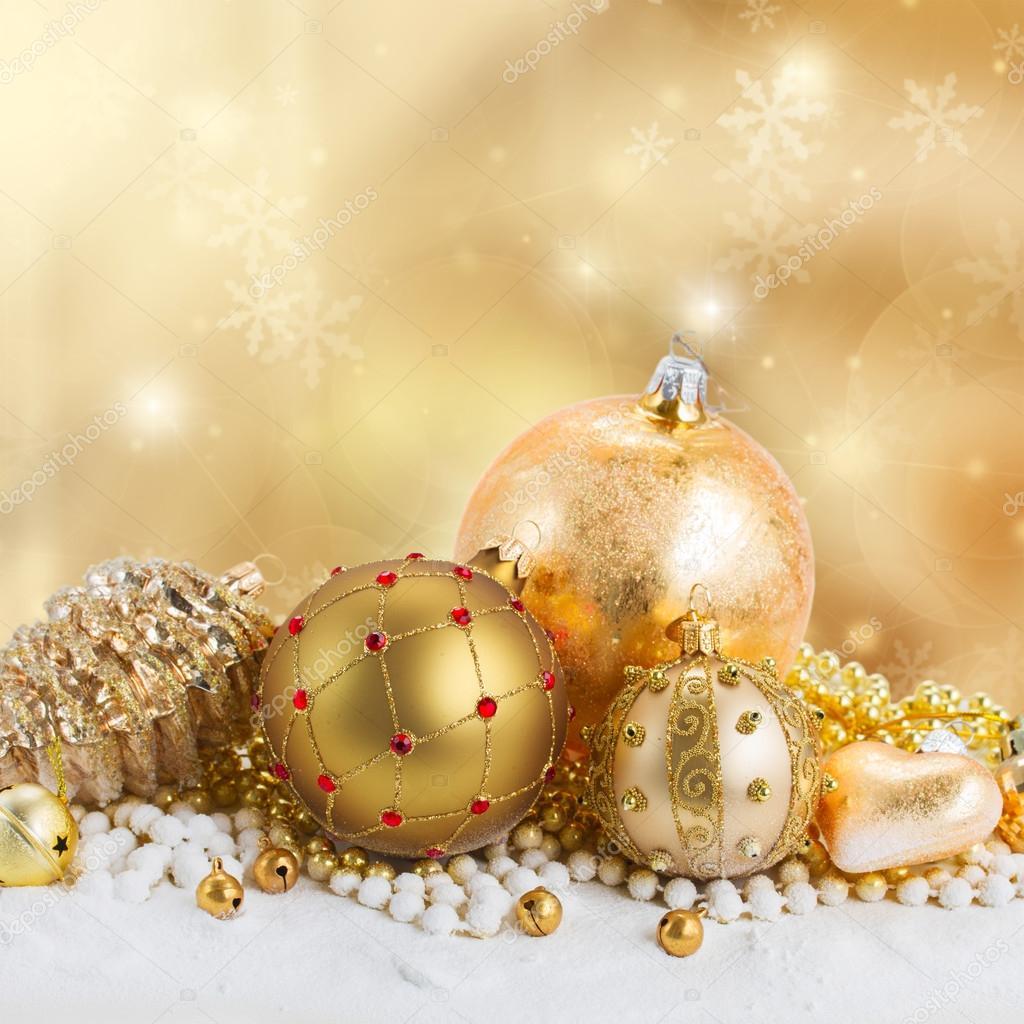 Decorazioni Natalizie Dorate.Decorazioni Di Natale Dorato Foto Stock C Neirfys 87118898