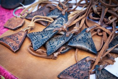 Ethnic amulets in the market