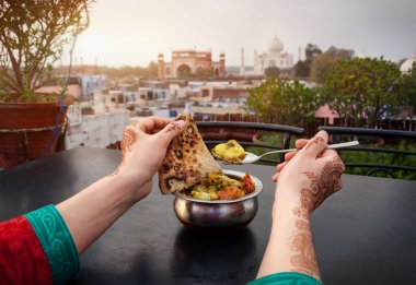 Dinner near Taj Mahal