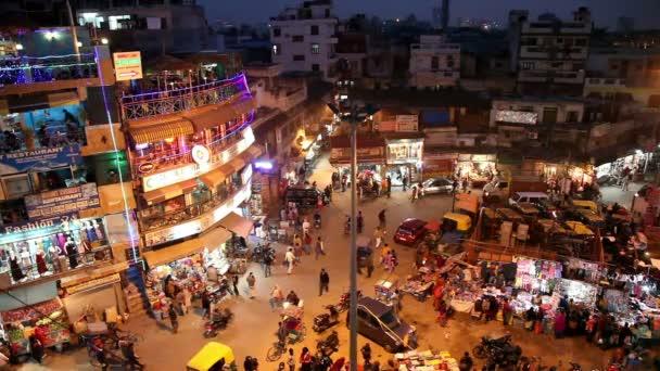 Hlavní noční Bazar v Novém Dillí