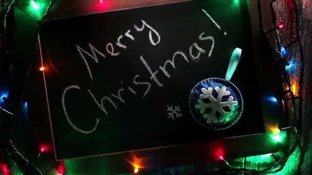 Veselé Vánoce nápis se světly