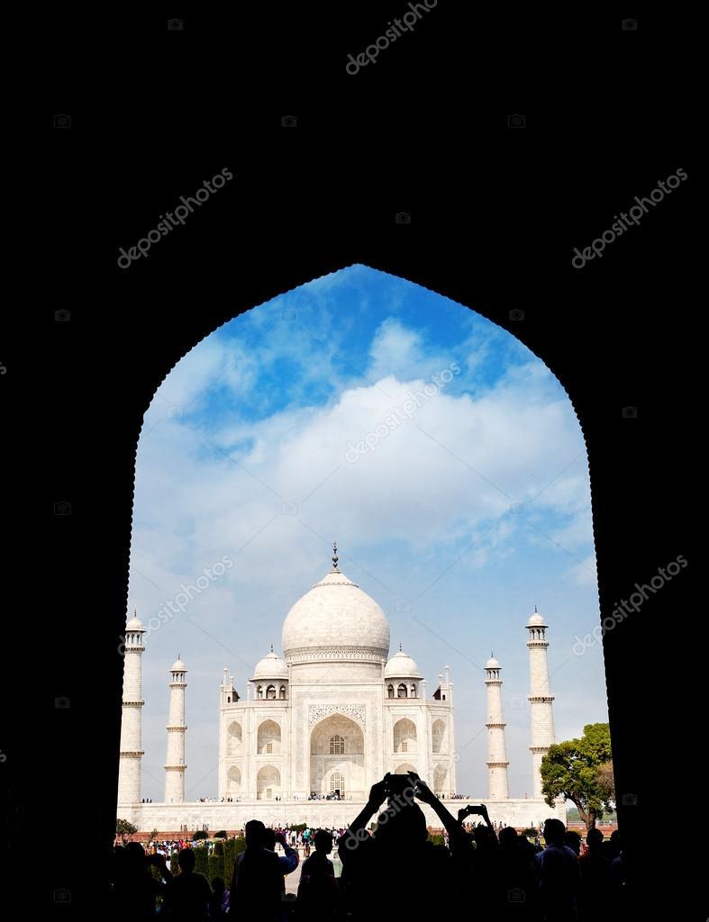 Taj Mahal View From Arch Silhouette Stock Photo C Byheaven