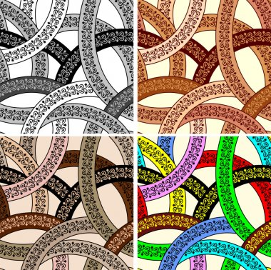seamless abstract pattern from decorative interlaced lines with