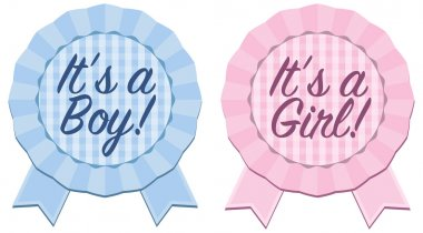 Baby Announcement Ribbon