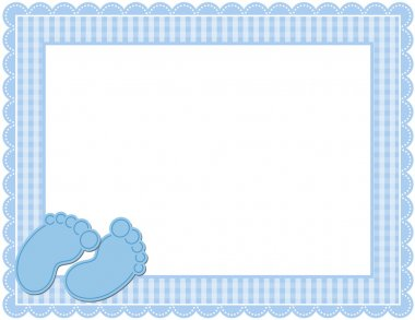 Baby Boy Gingham Frame