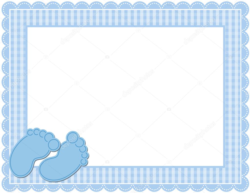 Baby Boy Gingham Frame — Stock Vector © adamsl #59189565