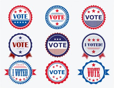 Election Voting Stickers and Badges