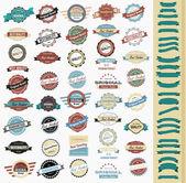 Kolekce etiket retro vintage stylem designu