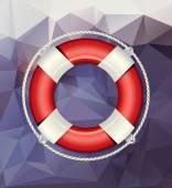 Červené a bílé záchranný kruh