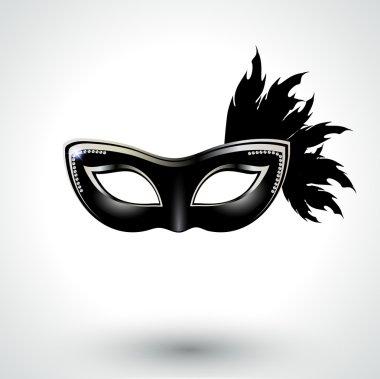 Peacock Venetian carnival mask
