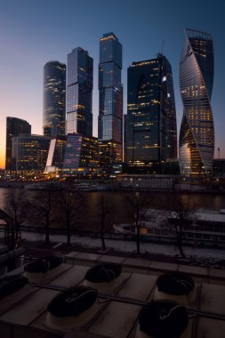 View on International Business Center Moscow City in the night