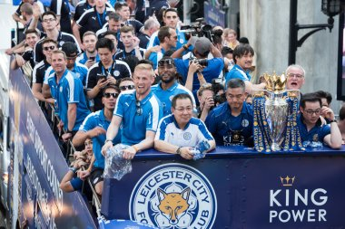 Leicester City Football Club celebrates First Championship of English Premiere League 2015-16 in Thailand