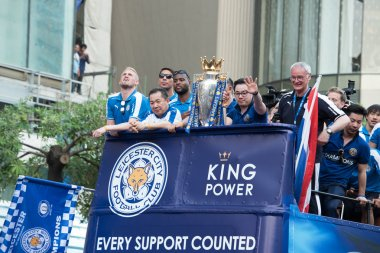 Leicester City celebrates Championship of English Premiere League in Thailand