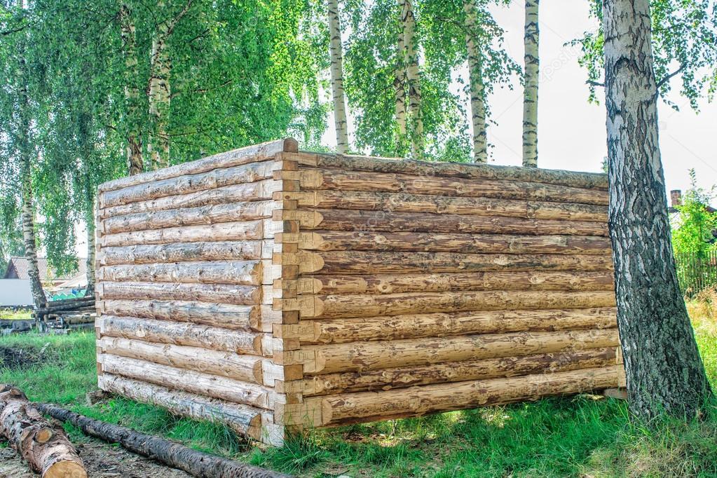 Wonderful Bau Eines Holzhauses Blockhaus U2014 Stockfoto