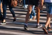 a gyalogosok lábát