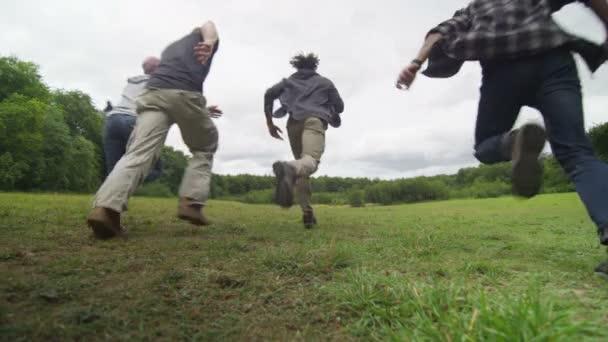friends running away from camera