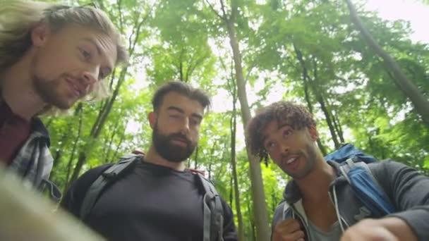 amici escursioni nel bosco