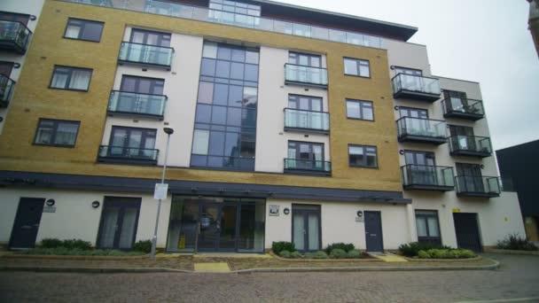 apartment blocks in a London Suburb