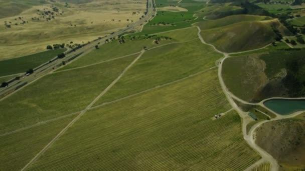 Letecký snímek polí