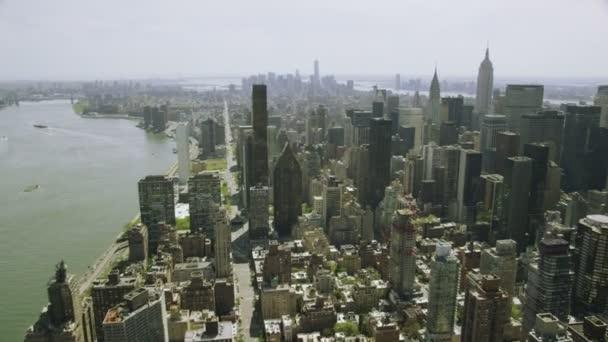 Panoráma města New Yorku a mrakodrapy