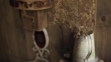 Rustiek Vintage Badkamer : Interieur rustieke badkamer vintage wastafel u stockvideo