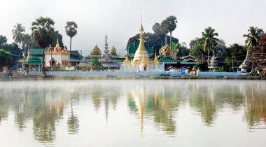 Temple Chong Klang and Chong Kham in Mae Hong Son province, Nort
